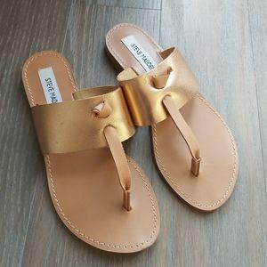 BRAND NEW Steven Madden Rose Gold leather Sandals